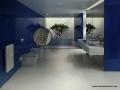 01 LUXE Blue Bath Modern Wedgewire