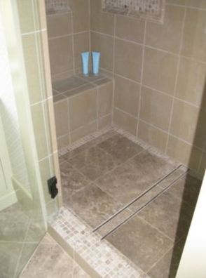 Master Bath Tile Insert Linear Drain