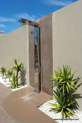 Tile Insert Linear Shower Drain - Outdoor Shower