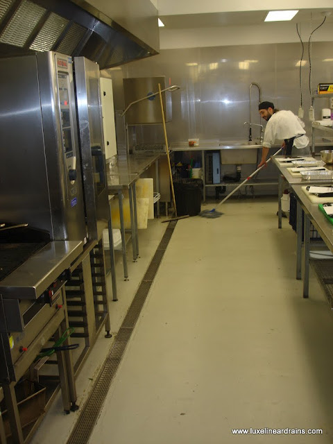 Commercial Kitchen Drain : ... Drains has Drainage Solutions for Restaurants LUXE Linear Drains